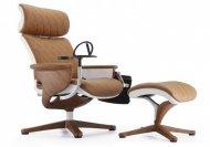 Кресло - реклайнер NUVEM LUX (кожа коричневая) (00845)