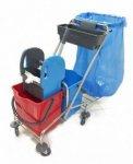 Тележка на колесах для уборки помещений (CK759)
